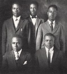 Melvin B. Tolson (center) led the Wiley College debate team to a U.S. championship in 1935 with a win over Harvard University.
