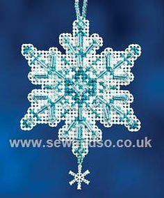 Buy Aqua Crystal Cross Stitch Kit Online at www.sewandso.co.uk