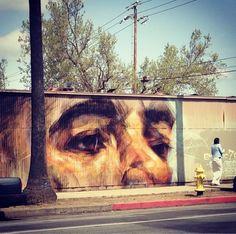 Beautiful Samuel Rodriguez mural In San Jose. Love the brush stroke look.