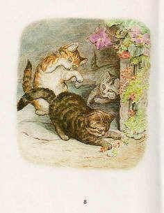 Beatrix Potter Kitten Mittens, Beatrice Potter, Bronn, Illustration Art, Cat Illustrations, Cat Art, Book Design, Animals And Pets, Cats And Kittens