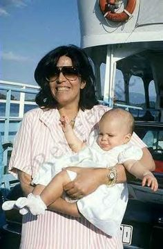 Jackie's stepdaughter, Christina Onassis and daughter, Athina.  Christina was found dead in 1988.