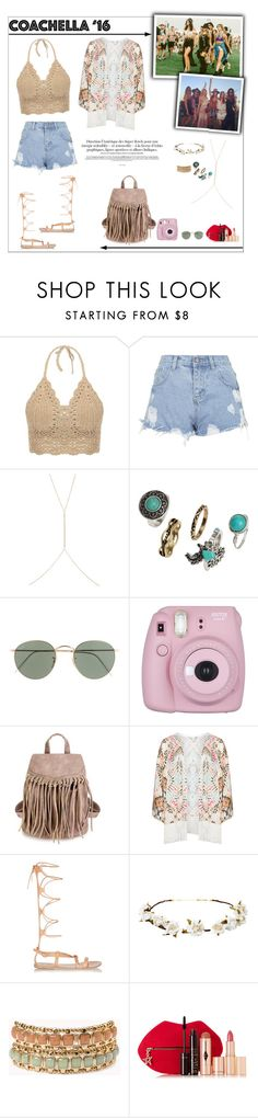 """Pack for Coachella!"" by mariots22 ❤ liked on Polyvore featuring Topshop, Ileana Makri, H&M, J.Crew, Mat, Ancient Greek Sandals, Cult Gaia, Forever 21 and Charlotte Tilbury"