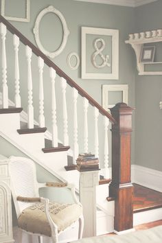 traditional staircase by Kasey Buick - think I would add some pictures!