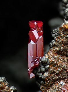 Cuprite, Breimehl Mine, Brachbach, Betzdorf, Siegerland, Rhineland-Palatinate, Germany. Fov 1.2 mm