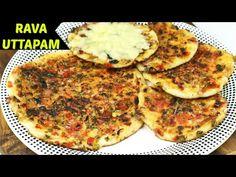 नाश्ते में बनाऐं झटपट रवा उत्तपम । सूजी के चीले । Instant Rava Uttapam   Tiffin Recipe for Kids - YouTube