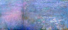 Seeing things differently: After Claude Monet had the lens of his left eye completely removed he started seeing - and painting - in ultravio...