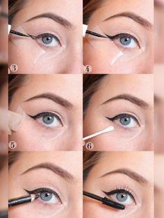 Eye Makeup, Eyeliner and Mascara Eye Makeup Art, Glitter Eye Makeup, Eye Makeup Tips, Makeup Eyeshadow, Eyeshadow Pans, Eyeshadow Pencil, Perfect Eyeliner, How To Apply Eyeliner, Perfect Makeup