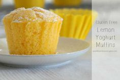 This is a family recipe for delicious, fluffy and moist gluten free Lemon and Yoghurt Muffins! Tried, tested and so worth making !!!