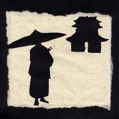 Ombres chinoises Génie du pousse pousse