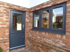 Eclectic Grey has more interesting undertones than a typical pure grey. Find out more about Residence Collection colours online. House With Grey Windows, House Windows, Windows And Doors, Grey Upvc Doors, Upvc Stable Doors, Anthracite Grey Windows, Architecture Blueprints, Contemporary Front Doors, Cottage Door