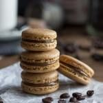 Coffee Macarons with Nutella Filling - Baking A Moment