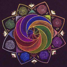 ~Rainbow Roses ~ by Ellen van der Molen ~