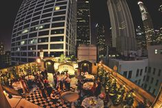 Always wanted a rooftop wedding. Maybe I can pull it off for our one year vow renewal.
