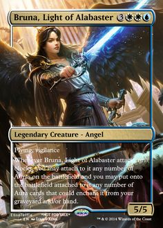 Magic the Gathering - Bruna, Light of Alabaster by ASliceOfUnagi