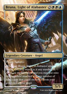 Magic the Gathering - Bruna, Light of Alabaster by ASliceOfUnagi