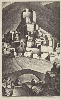 Alexander Kanoldt, Subiaco, 1924