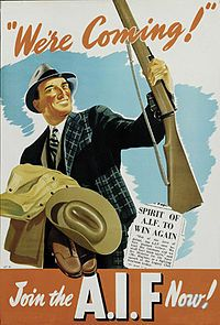 Military history of Australia during World War II Cold War Propaganda, Propaganda Art, Ww2 Posters, Political Posters, Military History, Ww2 History, Military Art, Vintage Posters, Vintage Ads