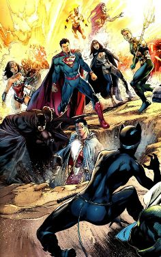 "Justice League by Ivan Reis from ""Justice League: Trinity War"""