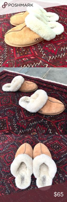 Women's Chestnut Ugg Slippers Women's slip on original Scuffette II Ugg Slippers. Barely worn. Bought last December 2016 and have only worn them twice around the house. UGG Shoes Slippers