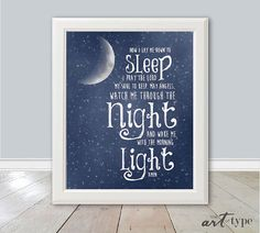 Childs Prayer Print Now I Lay Me Down to Sleep by theARTofTYPE