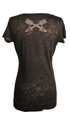 Crossed Arrow Burnout V-Neck at Cowgirl Blondie's http://www.dumbblondeboutique.com