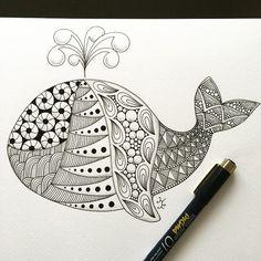 Dibujos Zentangle Art, Zentangle Drawings, Doodles Zentangles, Doodle Drawings, Cute Drawings, Doodle Art Designs, Doodle Patterns, Zentangle Patterns, Zantangle Art