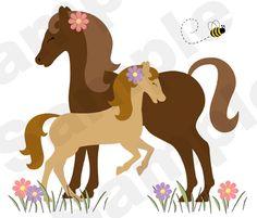 Horses Pony Colt Barnyard Farm Cowgirl Nursery Girl Wall Mural Stickers Decals | eBay