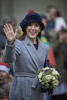 Princess Mary (pictured) and Prince Frederik attended a church service in Copenhagen to mark the 500th anniversary of the Reformation