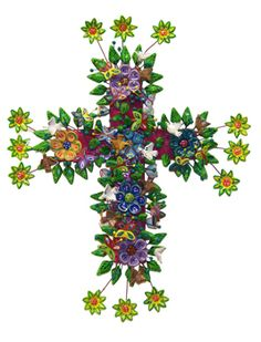 Flowered cross from Crow's Nest Trading Company