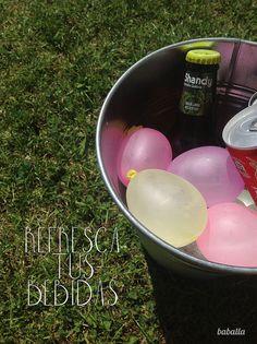 refresca_bebidas by baballa, via Flickr REFRESCAR BEBIDAS CON GLOBOS DE AGUA CONGELADOS