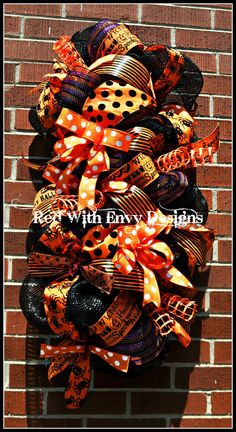 Halloween Swag Halloween Centerpiece by RedWithEnvyDesigns on Etsy, $55.00
