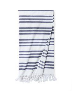 Pinstriped Fouta Beach TowelPinstriped Fouta Beach Towel