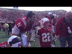 Jack Hoffman on the Sidelines Getting the TD Play Call.  Joe Ganz is seriously my favorite Husker football player ever.