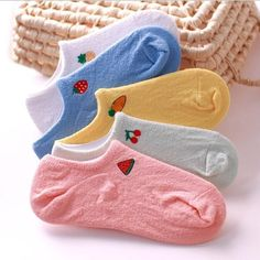 """""""Miss Fruit"""" 5 Pairs Womens Ankle Socks Cute Short Casual Sports Summer Socks #Unbranded #Casual"""