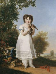 Marie-Guillemine Benoist - Portrait de Napoleona Elisa Baciocchi (1806–1869)
