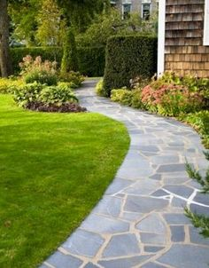 outdoor walkway | The popular choice of material for walkways is paving stones which are ...