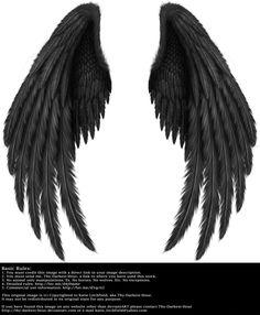 Winged Fantasy V.2 - Black by Thy-Darkest-Hour.deviantart.com on @DeviantArt