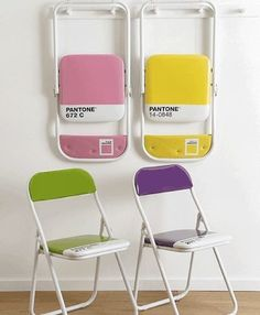 pantone folding chairs, storable seating for office hours
