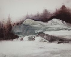 "Francisco Castro "" Winter I "" - watercolor."