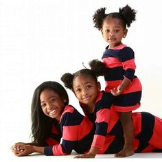 """Three amazingly cute african american girls with hair all """"did""""!"""