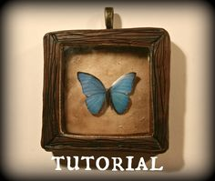 Tutorial: 'The Butterfly Collector' Shadow Box Resin & Polymer Clay Pend...