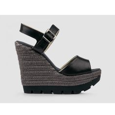 GAIMO Pai | Elegant and trendy black wedge espadrille sandal made from leather | SPANISH SHOP ONLINE