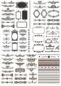 Set of Calligraphic Design Elements and Page Decor Free Vector Cd R, Cnc Router, Coreldraw, Art Tips, Vector File, Design Elements, Fancy, Frame, Silhouette