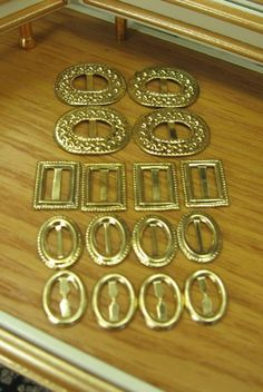 Small Buckles for Dolls Barbie Fashions Silkstone by brendavisaya, $10.00