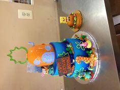 Spongebob cake & bomb cake for 1st birthday!