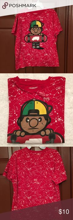 """Trukfit """"Lil Tommy"""" logo tee, size Large Boys Trukfit oversized red short sleeve crew neck tee size large Trukfit Shirts & Tops Tees - Short Sleeve"""