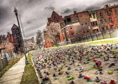 Detroit ArtX, Shoes for the homeless by Tyree Guyton