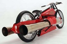 ROCKET POWERED HARLEY DAVIDSON    'Created by Bob Maddox based on a 1929 Harley Davison track racer design.'    - Caleb Cox, Hardware