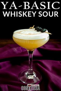 Perhaps I should have started with your basic whiskey sour, but there are so many riffs to be done on a whiskey sour and many directions to take it. When I start a new series, the basic cocktail is never where I want to start. But about mid-way through I like to step back and just create a simple one to remind myself of the standard I'm playing with.   @cocktailcontessa #craftcocktail #whiskeysour #summercocktails #whiskeycocktail Whiskey Smash, Whiskey Sour, Craft Cocktails, Summer Cocktails, Holiday Cocktails, Recipe Maker, Sour Foods, Cocktail Garnish, Bourbon Cocktails