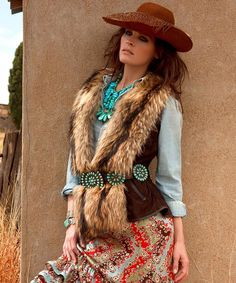 Vest and belt combo are great! Double D Ranch vowgirl wear